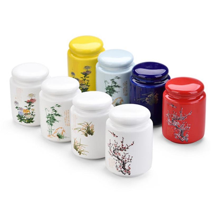 Ceramic Purple Sand Tea Set Ceramic Jar Yixing Jar Of Tea Ceramic Porcelain potes de cozinha armazenamento Kitchen Porcelain Box Storage Bottles & Jars     - title=