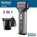 Kemei 3 In 1 Rechargeable Electrics Shaver Nose Head Hair Trimmer Double Head Shaving Razor For Men Face Care KM-1120