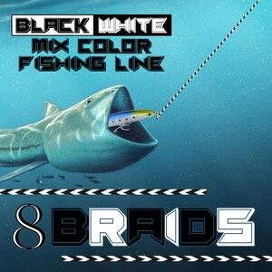 Image 5 - Nieuwe 8 strand black kleur nooit vervagen gevlochten spot lijn 100 m 300 m super pe 6 150LB sterke kleurvastheid draad zee visgerei