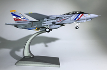 WLTK 1/100 Scale Military Model Toys F-14 Tomcat Fighter VF-2 Bounty Hunters Diecast Metal Plane Model Toy For Collection,Gift wltk 1 72 scale military model toys german bf 109 fighter diecast metal plane model toy for collection gift kids