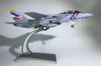 WLTK 1/100 Scale Military Model Toys F 14 Tomcat Fighter VF 2 Bounty Hunters Diecast Metal Plane Model Toy For Collection,Gift