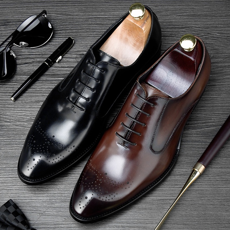 New Fashion Round Toe Man Formal Dress Shoes Genuine Leather Medallion Brogue Footwear Mens Handmade Wedding Party Oxfords NE81New Fashion Round Toe Man Formal Dress Shoes Genuine Leather Medallion Brogue Footwear Mens Handmade Wedding Party Oxfords NE81
