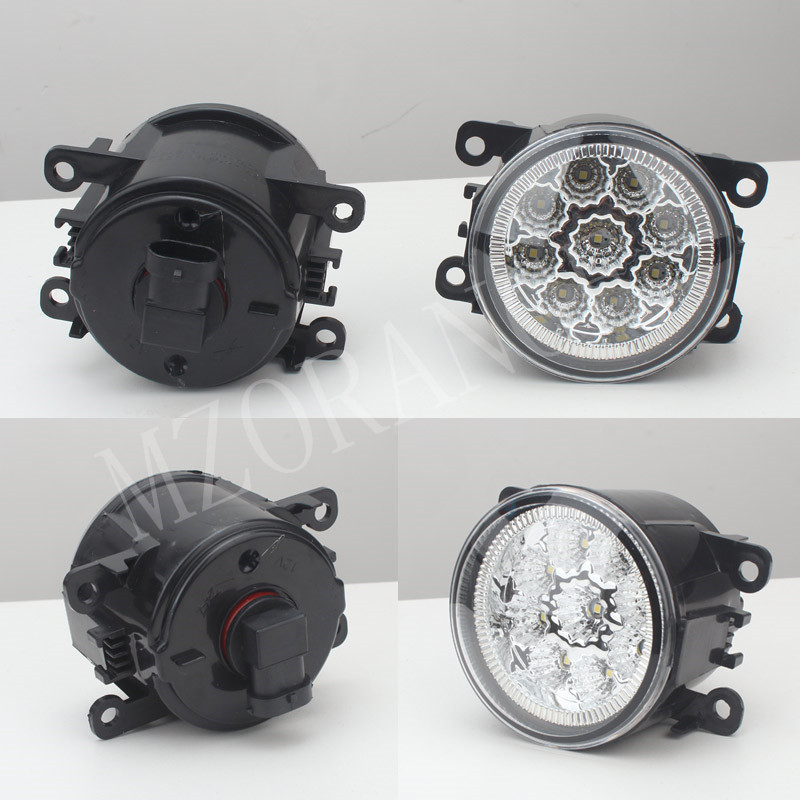 6000 K 12 V voiture-styling DRL Brouillard Lampes éclairage LED Lumières Pour Mitsubishi L200 OUTLANDER 2 PAJERO 4 GALANT Grandis 9 W/1 ENSEMBLE