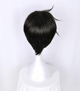 Image 4 - Kuroshitsujiดำบัตเลอร์เซบาสเตียนMichaelisสั้นสีดำแต่งกายคอสเพลย์วิกผมทนความร้อนไฟเบอร์ผม+ฟรีวิกผมหมวก