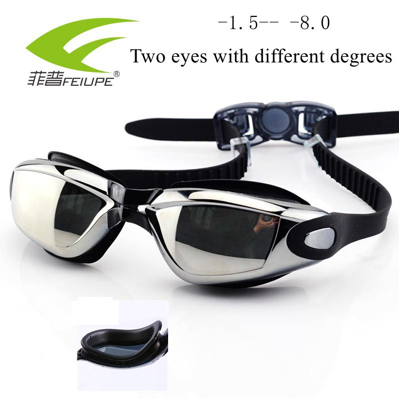 cd5c24bb74b Detail Feedback Questions about Swimming Goggles Professional Swimming  Glasses Myopia Different Glasses Adjustable Surfing Goggle Glasses Adult  Waterproof ...