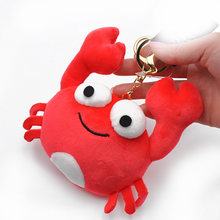Red Crab Animal Dolls 13CM Baby Plush Toys High Quality PP Cotton Children Pocket Pendant Plush Toys Send Kids Gift(China)