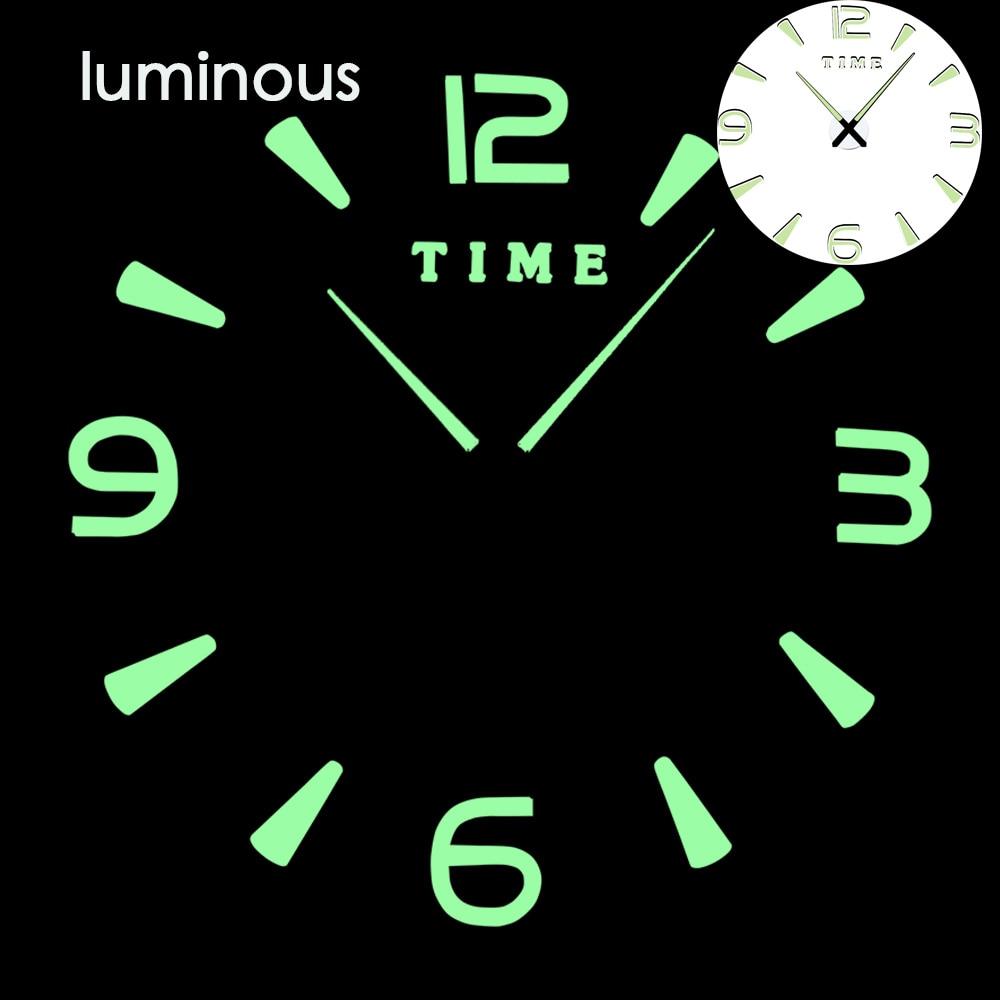 27 различных дизайнов светящиеся настенные часы современный дизайн настенные цифровые большие Big3D DIY модные Saat Reloj Horloge klok - Цвет: wall clock 26