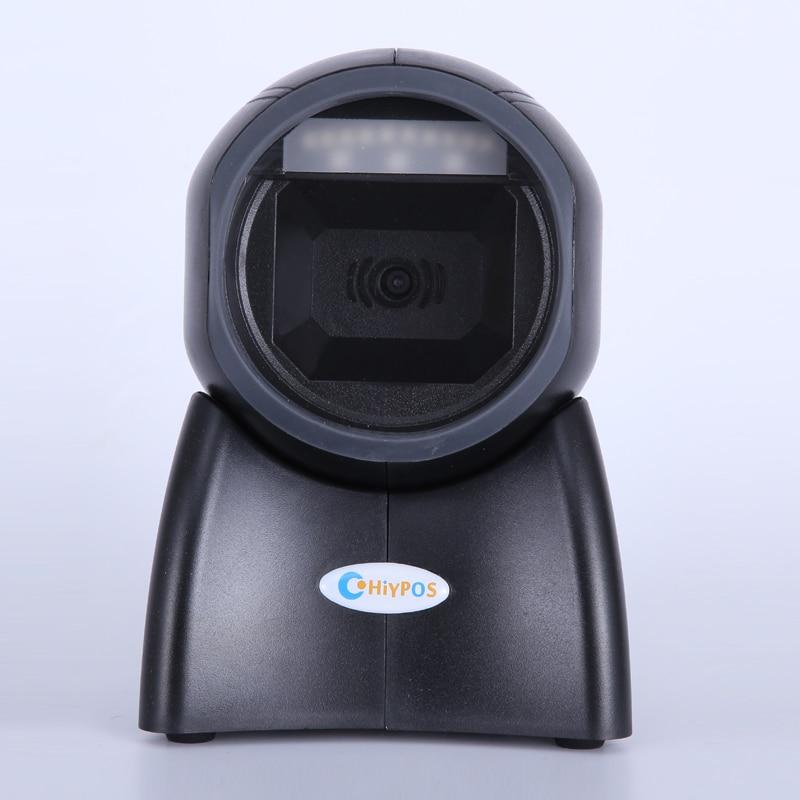 Omni Directionnelle Scanner 1D/2D Bar code Scanner Billetterie PDF417 QR Code Scanner De Bureau Auto Sense USB Lecteur de Codes Barres NT-4010