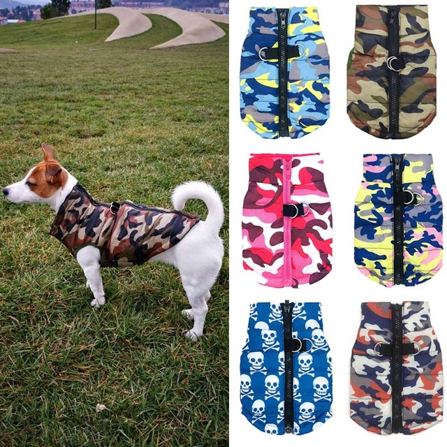Waterproof Dog Coat Winter Puppy Clothes Camo Pattern Small Jacket Chihuahua Yorkie Clothing XS-L