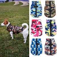 Chaqueta para perro impermeable ropa de invierno para cachorros patrón de camuflaje pequeña chaqueta para perros Chihuahua ropa para perros XS-L