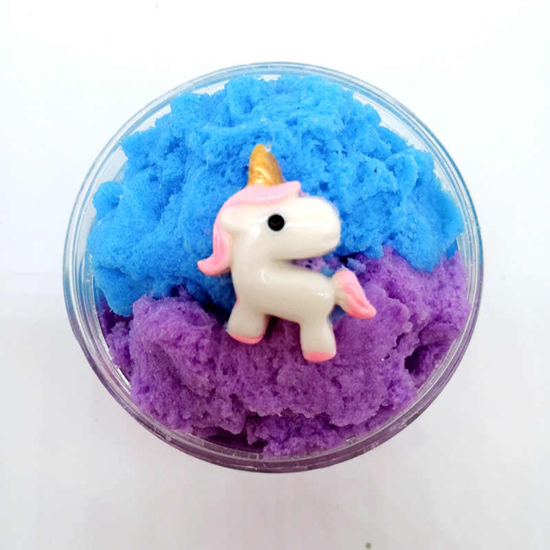 Cute Unicorn Cloud Slime Ice Cream Antistress Cotton Slime Fluffy Colour Clay Snow Mud Slime Ralx Toy For Kids DIY Craft Toys