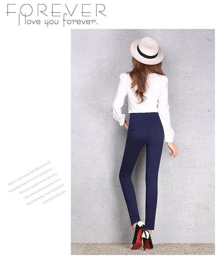 2016 New Autumn Winter Women Casual Stretch Leggings Pencil Sport Pants Skinny Leggings Women\'s Clothing Trousers Plus Size A661 g