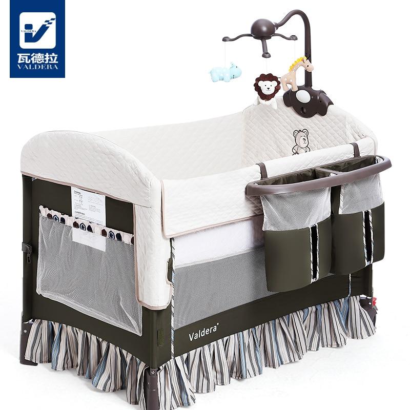 Valdera Portable Baby Bed, European Style Folding Multi-function Variable Shaker, Bb Game Bed multi function white radish style peeler