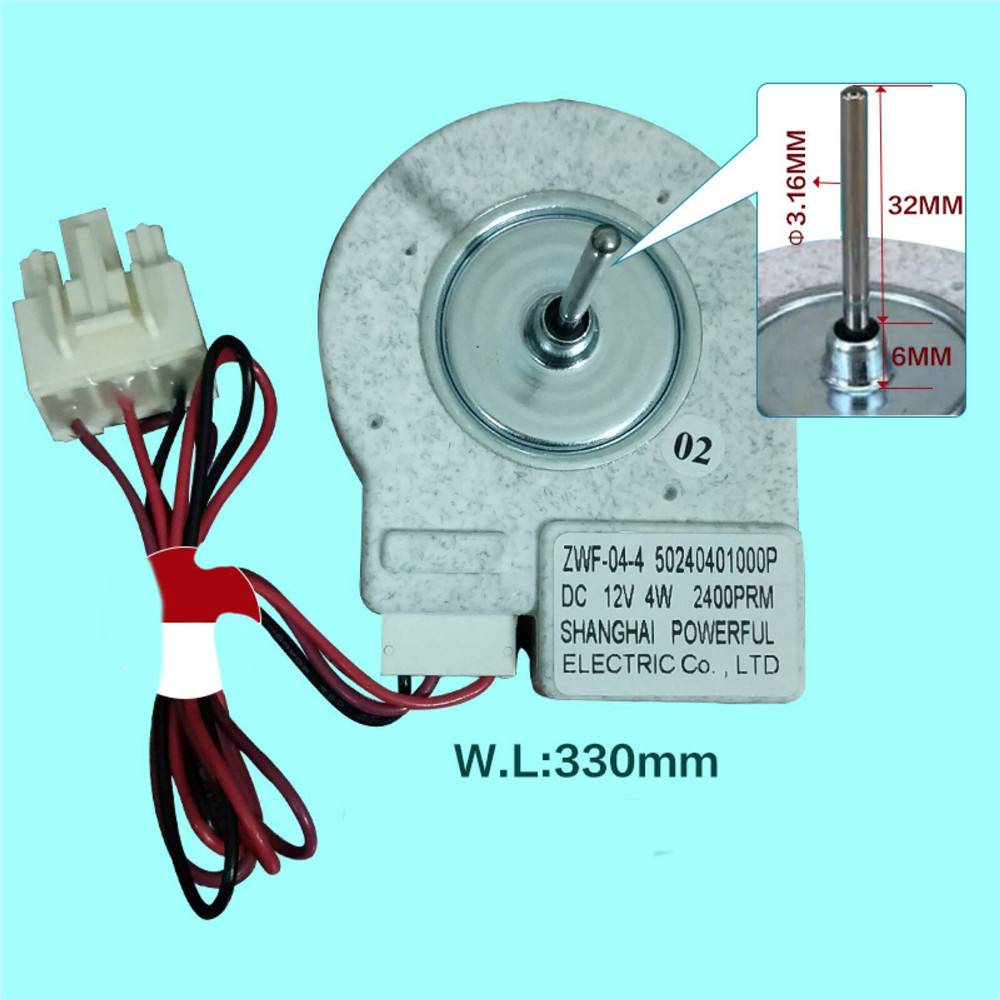 NEW Refrigerator Ventilation Fan Motor KBL-48ZWT05-1204 DC12V 4W 1450r//min