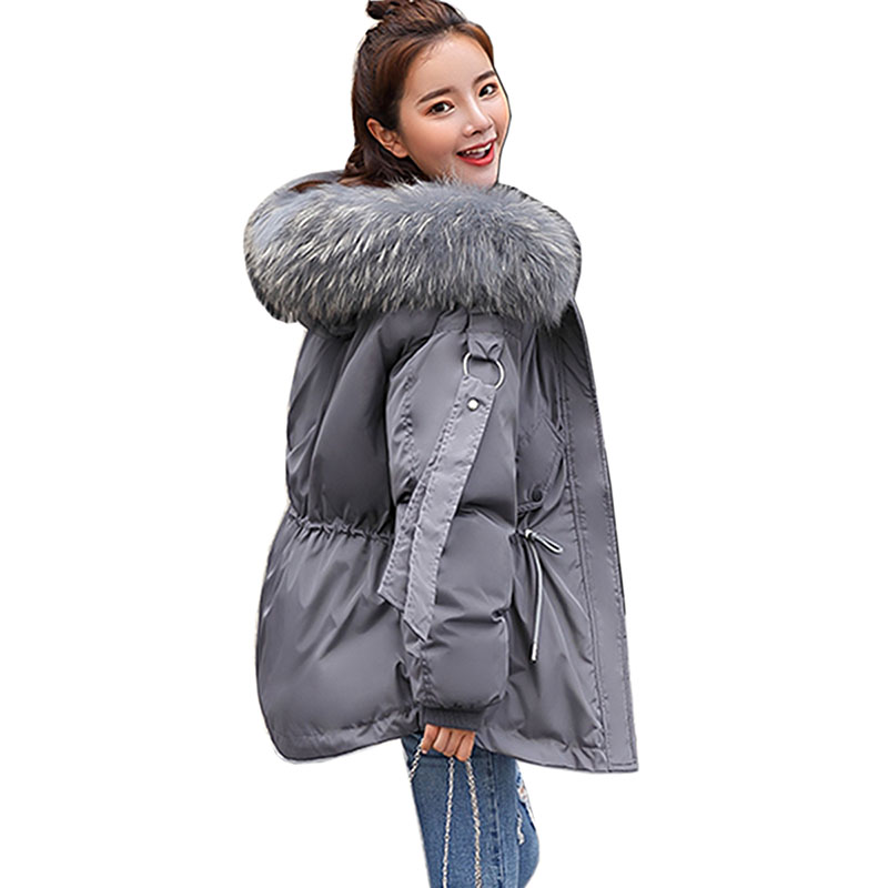 Fashion Female Down jackets woman winter coat 2018 big Fur collar   parkas   women winter jackets women Slim Hooded Warm coat female