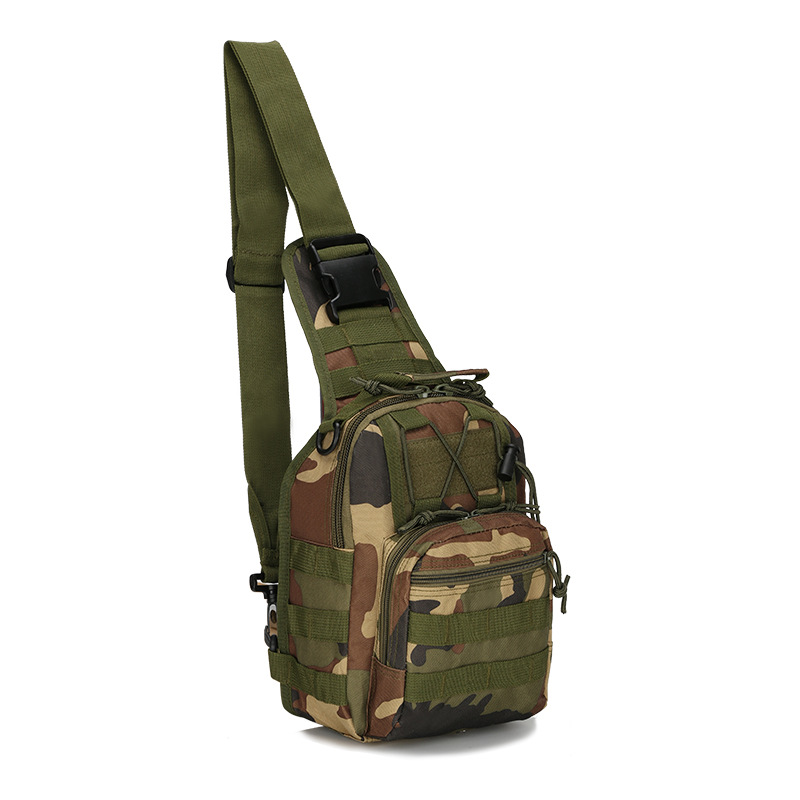 Cycling Single Shoulder Bag, Colorful Tactical Breast  Outdoor Mountaineering Portable Bag(China)