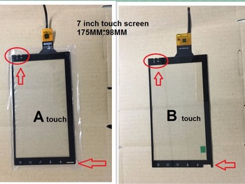 175*98 new 7 inch android navigation touch screen 6 pin 175mm*98mm for car dve gps image