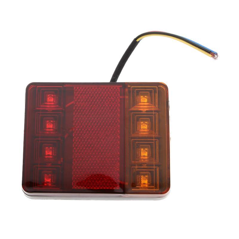 VODOOL Car Styling Car Light Waterproof Trailer Van LED Tail Light Brake Stop Turn Signal Rear Lamp Car Accessories High Quality yamaha led trailer light kit