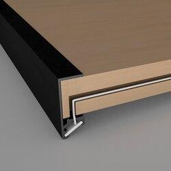 10-30 шт./лот 80 дюймов 18 мм ламинат свет светодиодный алюминиевый профиль, лампа Скрытая мебель книжный шкаф, ароматы, 6 мм полоса линейный кана...