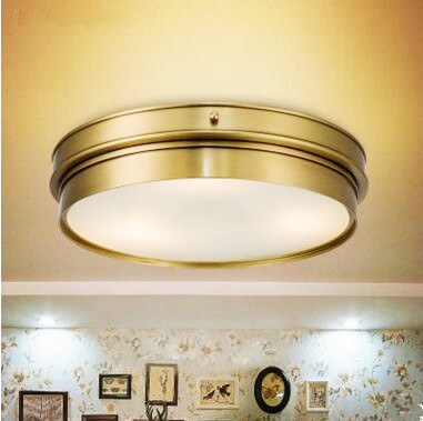 Misiņa Vintage LED modernu griestu lampas mājas apgaismojums Dzīvojamās istabas spīdums Flush Mount griestu gaismas Gaismeklis Plafonnier