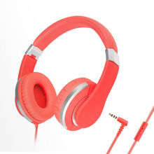 kanen i20 Pink Foldable Stereo Adjustable Headphones with Microphone for iPhone iPod Mp3 Smartphone Android Windows Phone