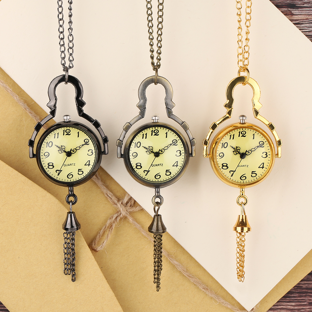 Necklace Ball Shape Women Fashion Pendant Men Modern  Causal Quartz Pocket Watch  Gift Bronze Cool Copper Half Hunter Chain new fashion vintage bronze vintage pendant pocket watch loki quartz watches with necklace chain cool gift for men women children