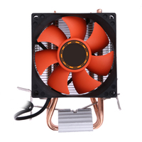 CPU Cooler Double Heatpipe Radiator CPU Cooling Fan For Intel LGA775 1155 1156 For AMD