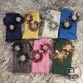 Calcetines de Mujer de la Nueva Llegada 2017 Calcetines de Moda Hecha A Mano de Encargo Con Cuentas Borlas Diamante Sun Flower Acciones Brillantes Bajo Montones De