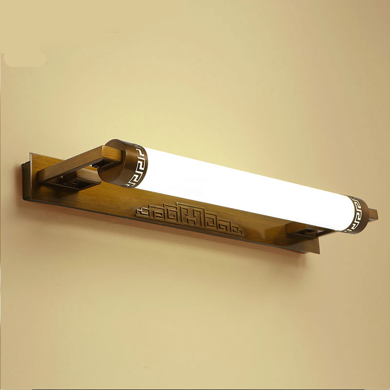 Classical Retro Chinese Elegant Iron Acryl Led Mirror Light For Bathroom Cabinet Waterproof Wall Lamp 55/62/81cm 1100 new high end classical chinese style acryl aluminum led mirror light for bathroom bedroom living room wall lamp 1026