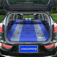 SUV Car Inflatable Mattress Seat Travel Bed Air Mattress With Air Pump Outdoor Camping Moisture Proof
