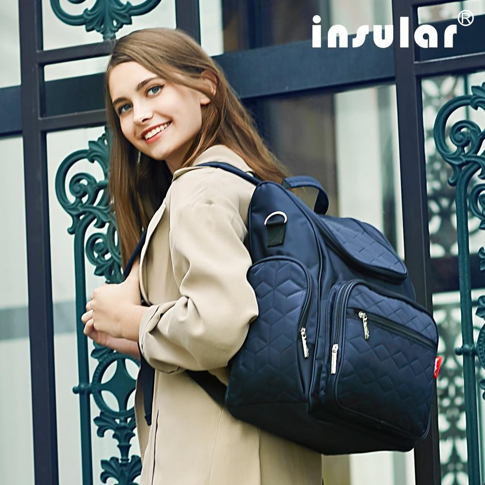 Insular élégant bébé couches sacs à dos sacs Nappy poussette sacs multifonctionnel maternité sacs à langer pour maman femmes sacs à dos