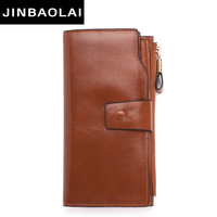 2017 New Design Fashion Multifunctional Purse Genuine Leather Wallet Women Long Style Cowhide Purse Wholesale And