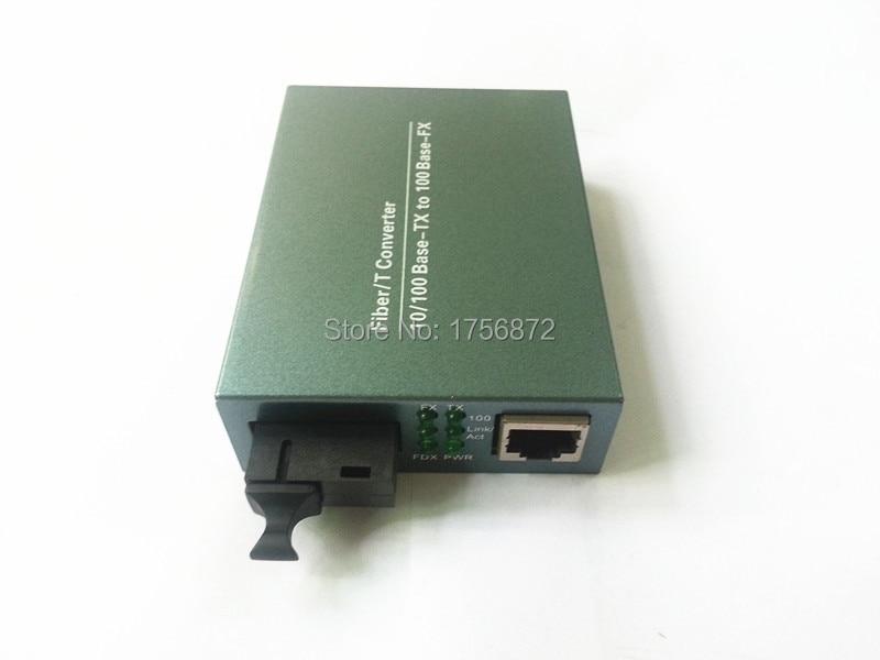 10 / 100M Transceptor óptico de conversor de mídia de fibra de - Equipamento de comunicação - Foto 4