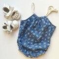 Ins 2016 verão Padrão de flor romper do bebê fita Floral Siamese roupas escalada Triângulo Romper para recém-nascidos do bebê meninas macacão