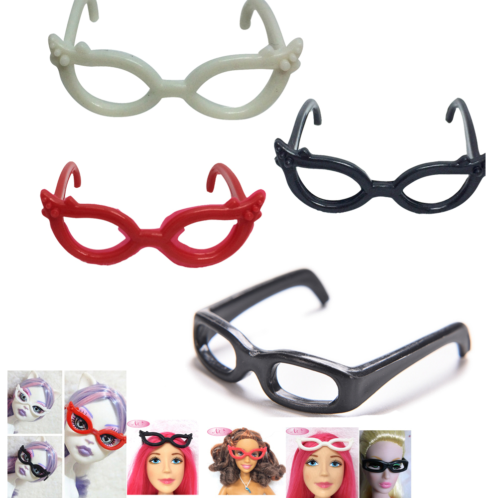 NK 4pcs/set Dolls Accessories Different Plastic Glasses For Monster High Doll For Barbie Doll The Best Christmas Gift DZ