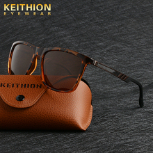KEITHIN Brand Design Square Fashion Sunglasses Women  men Polarized sunglasses UV400