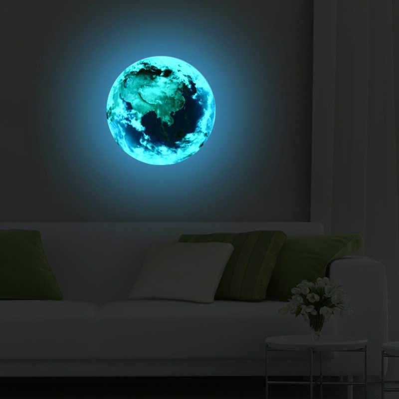 1Pcs Luminous Moon Bumi Washi Tape Dekoratif Kertas Alat Tulis Kawaii Scrapbooking Perlengkapan Stiker Kantor Pita Perekat