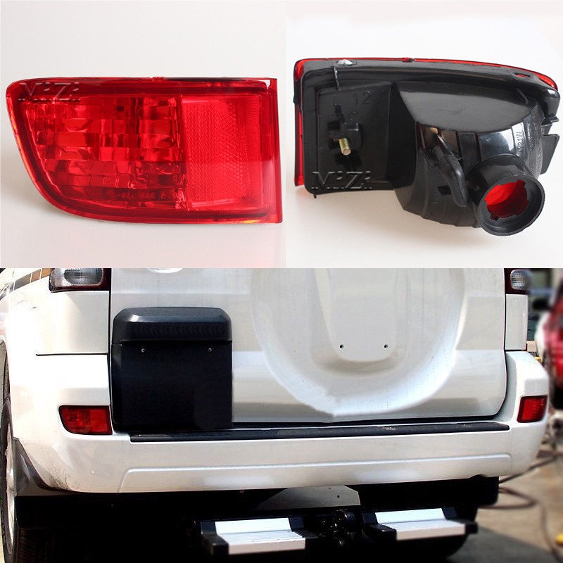 Rear Bumper Fog Light For Toyota Land Cruiser Prado 120 series GRJ120 TRJ120 FJ120 2002-2009 1/2 Piece Without Bulb High Quality lexus gx470 toyota land cruiser prado 120 модели 2002 2009 года выпуска руководство по ремонту и техническому обслуживанию