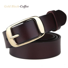 2017 New Fashion Wide Genuine Leather Woman Belt High Quality Cow Skin For Metal Buckle Straps Girls Casual Accessories jeans