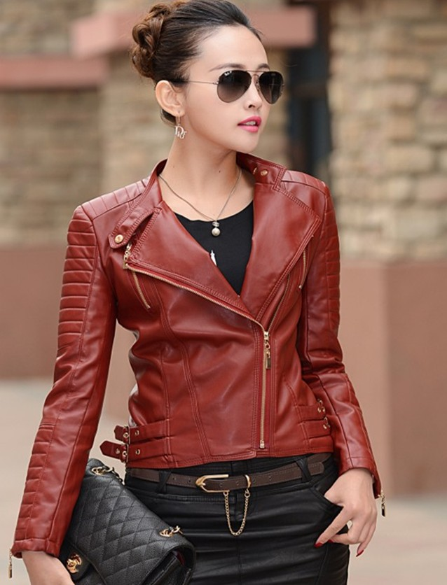 Compare Prices on Short Leather Jackets Women- Online Shopping/Buy ...