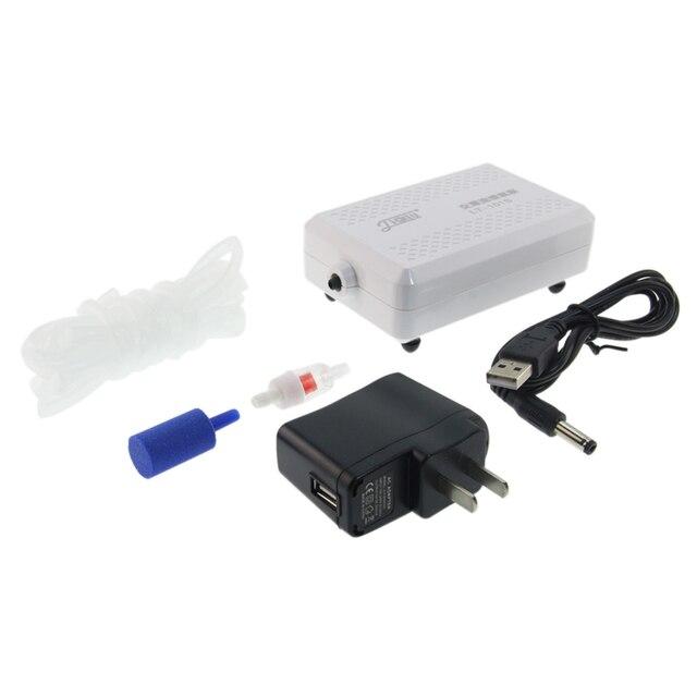 Aquarium Pump With Lithium Battery - Oxygen Pump Aerator 110V-240V 4W 2