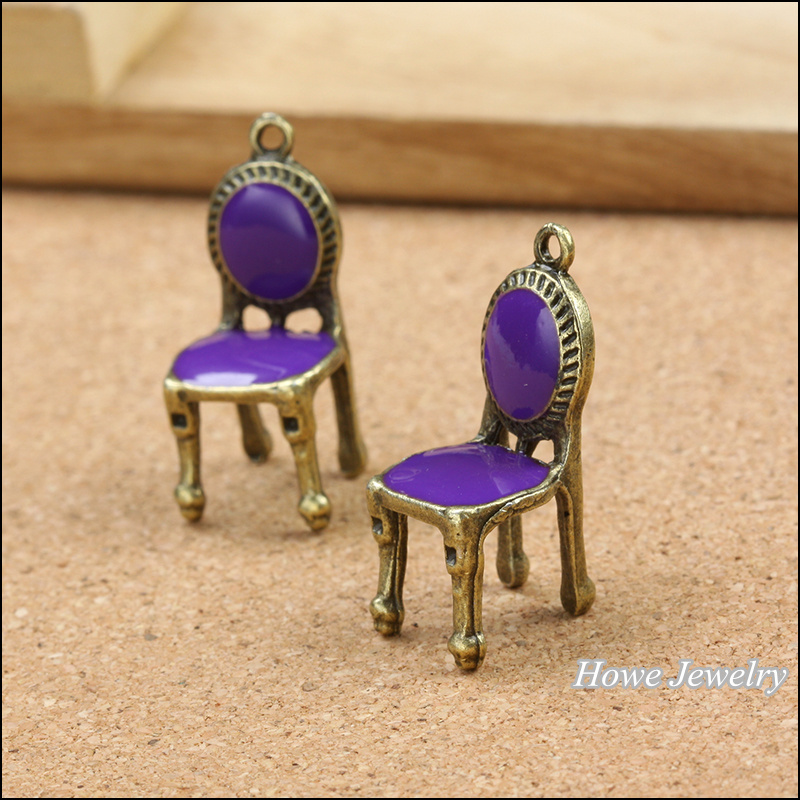 Wholesale 15 Pcs Vintage Charms Purple Chair Pendant Antique Bronze Fit  Bracelets Necklace DIY Metal Jewelry Making In Charms From Jewelry U0026  Accessories On ...