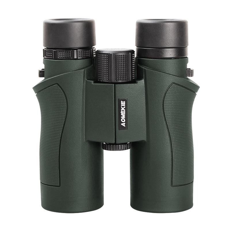 AOMEKIE 8X42 Binoculars Hunting Birdwatching Telescope FMC Lens HD Wide Field Vision Verrekijker Outdoor Long Range Binoculars