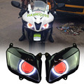 """2.8""""Big White Angel Eyes W/ Red Demon Eyes HID Assembly Projector Headlight  Fits For Honda CBR600RR CBR 600 RR 2007-2012 Repsol"""