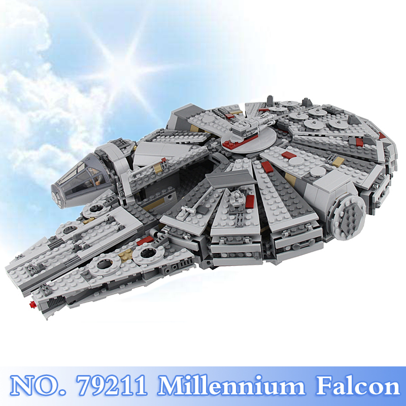 Star Wars 1381Pcs Force Awakens Millennium Falcon Figures Building Blocks Brick Set Children Toy Gift Model Kit Compatible 75105 lecgos building blocks super heroes star wars x wing fighter millennium falcon the force awakens compatible with lecgos