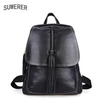 2019 New women bag Superior cowhide women Genuine Leather bags luxury backpack designer fashion genuine leather women backpack