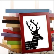 Wall Decorative or Desk Dual Use Wood Photo Frame Wooden living room DIY Picture Frames Birthday Wedding Gift