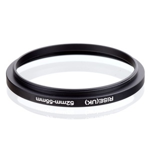 Image 2 - original RISE(UK) 52mm 55mm 52 55mm 52 to 55 Step Up Ring Filter Adapter black