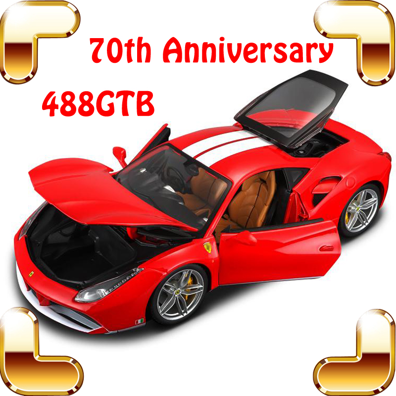 New Year Gift 70th 488GTB 1/18 Luxury Model Metal Alloy Car Collection Toys Static Big Collect Decoration Top Quality SimulationNew Year Gift 70th 488GTB 1/18 Luxury Model Metal Alloy Car Collection Toys Static Big Collect Decoration Top Quality Simulation