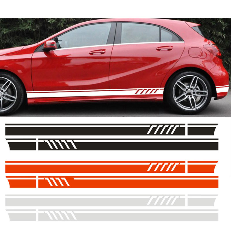 YONGXUN  For Mercedes Benz  A Class W176 A45 AMG  W117 C117 X117 CLA   Side Stripe Skirt Roof&Hood Decal Graphics Sticker car styling auto amg sport performance edition side stripe skirt sticker for mercedes benz g63 w463 g65 vinyl decals accessories
